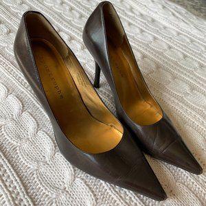 Apostrophe Brown Pointed Toe Heels